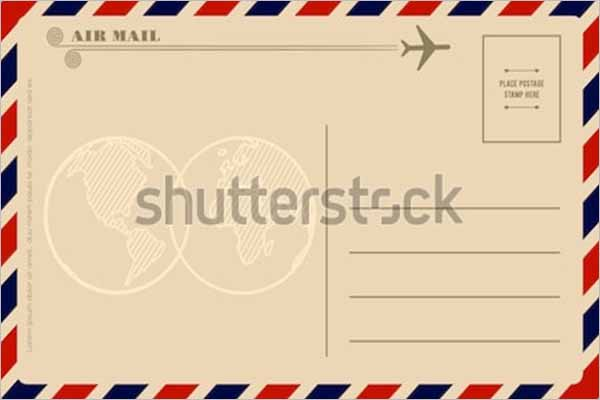 Vintage Greetings Postcard Template