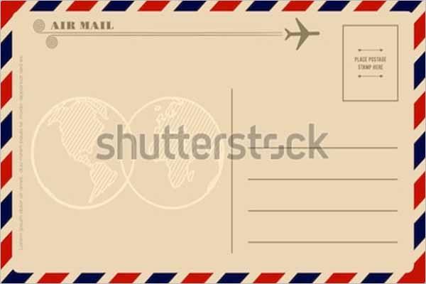 Vintage Greetings Postcard Template