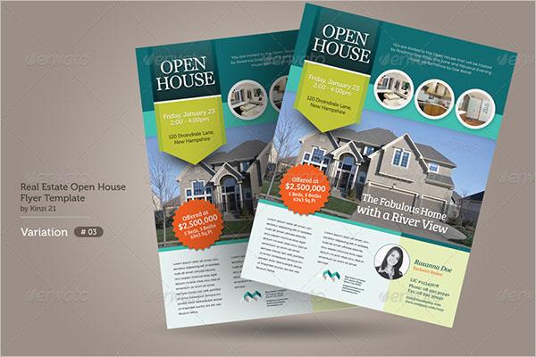 Vintage Open House Flyer Design