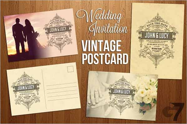 Vintage Postcard Back Design