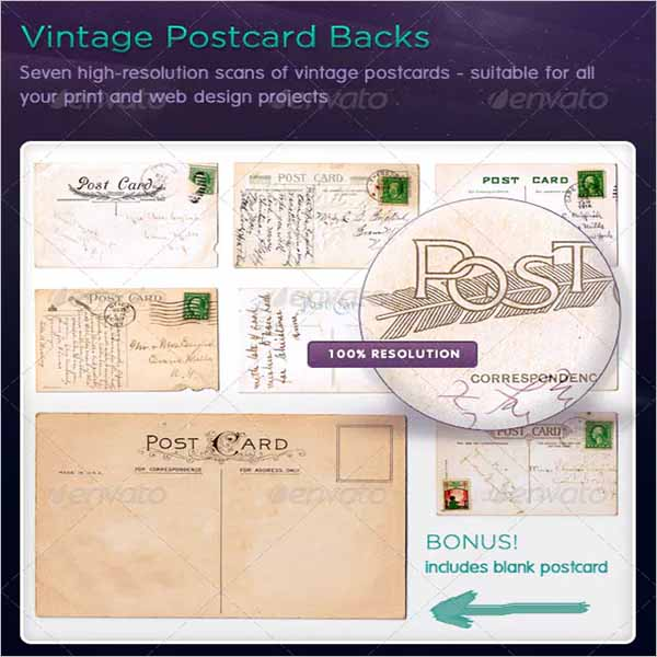 Vintage Postcard Design Template