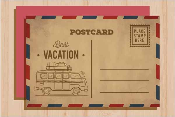 Vintage Postcard Generator Design