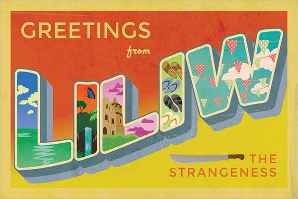 Vintage Postcard Layout Design