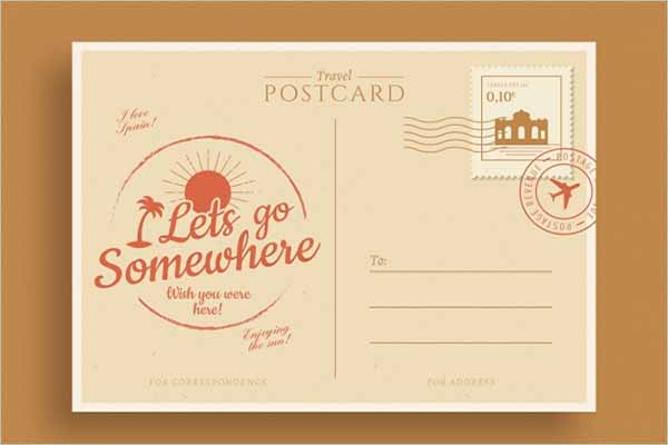 Vintage Travel Postcard Design