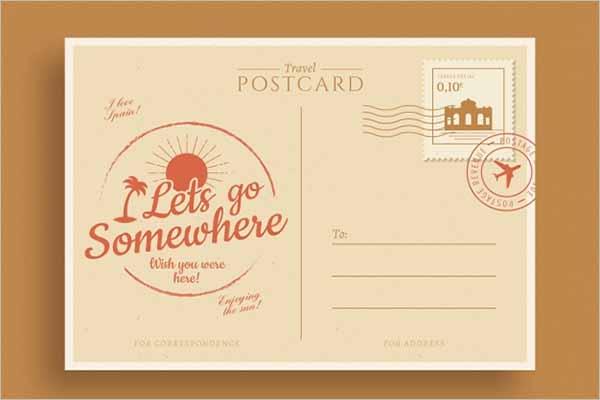 Vintage Travel Postcard Design