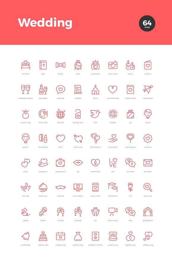 Wedding & Love Icons