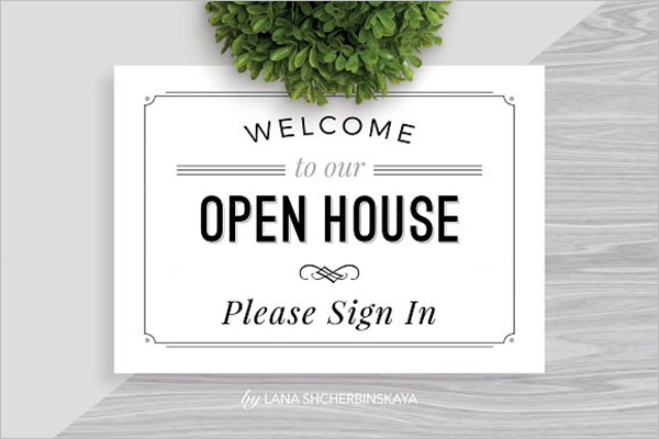 Welcome Open House Flyer Design