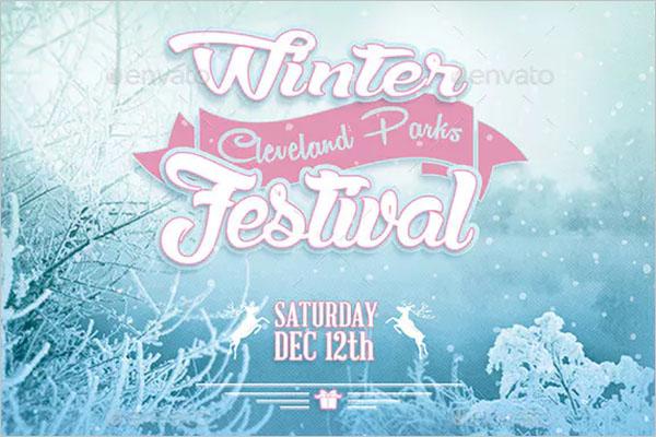 Winter Event Postcard  Design