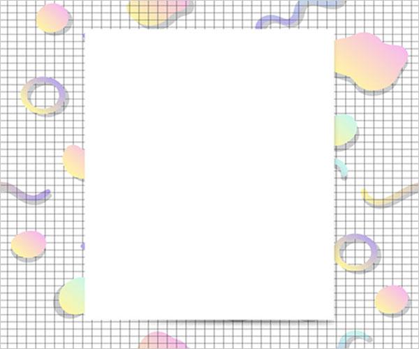 Writing Blank Postcard Design Template