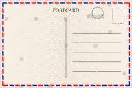 basic blank postcard design