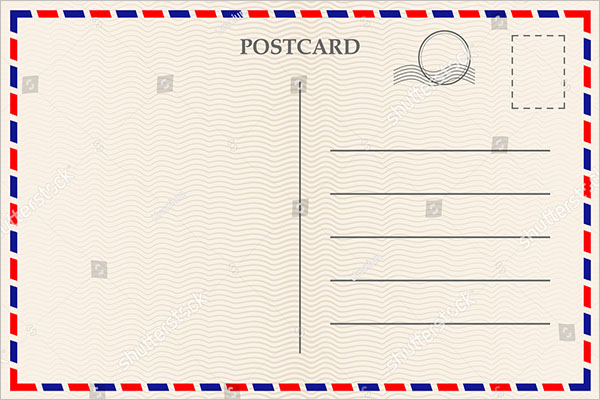 basic blank postcard design