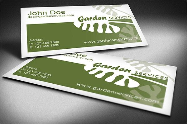 best gardening business cards