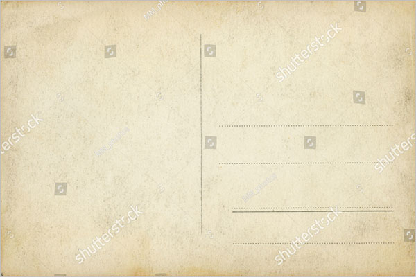 blank old postcard design