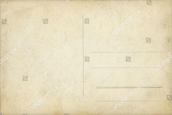 blank old postcard design