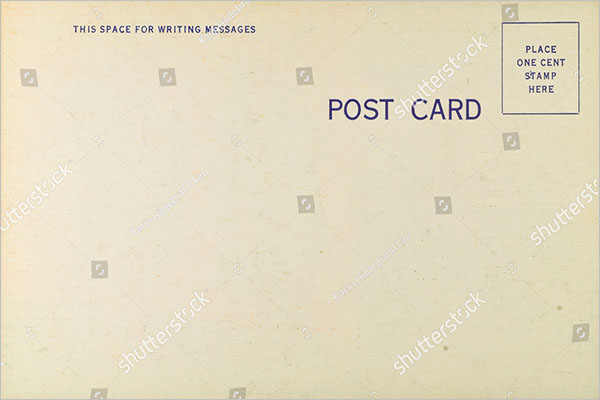 blank postcard design free download