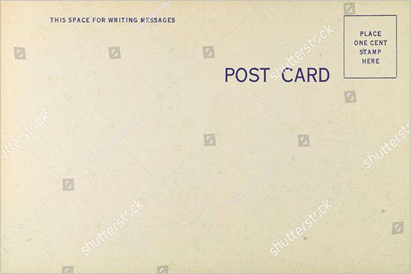 blank postcard design free download