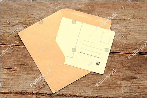 blank postcard example design