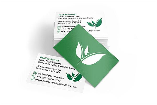 customizable gardening business cards customizable