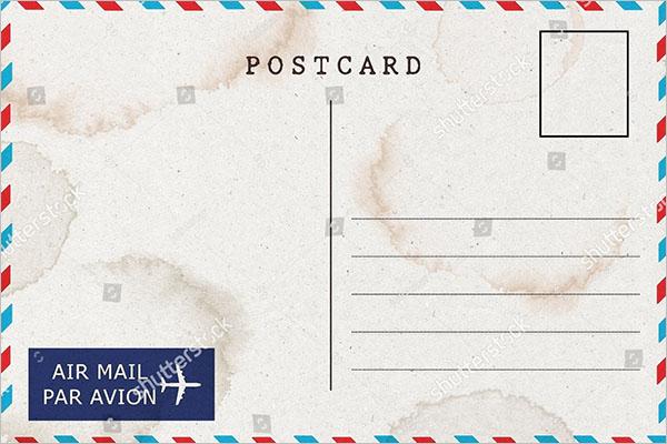 elegant blank postcard design