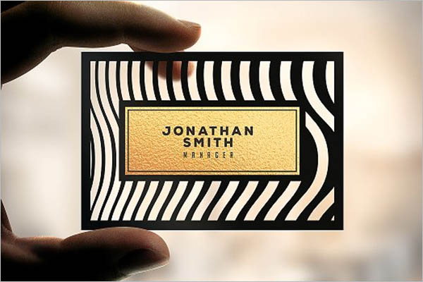 elegant transparent business card design