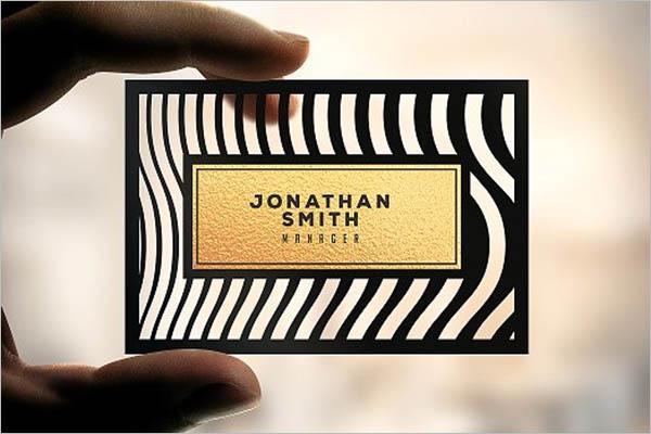 elegant transparent business card design