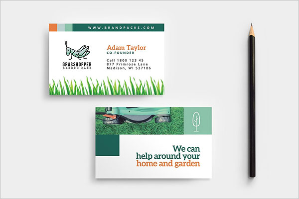 free gardening business cards templates
