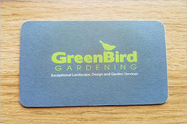 gardening business cards designs