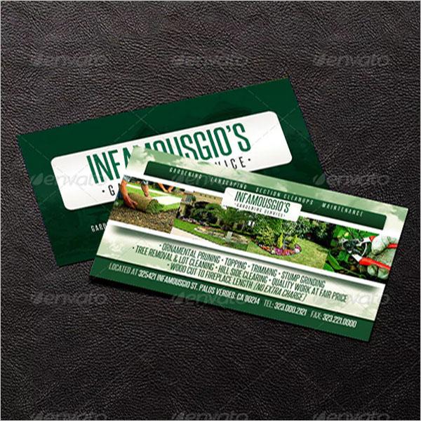landscape gardening business cards