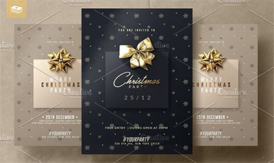 Christmas Psd Invitation Templates