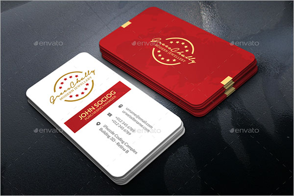 sample Jewelry Business Card
