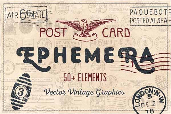 vintage Travel postcard Template