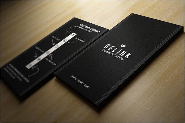 vintage black business card Design