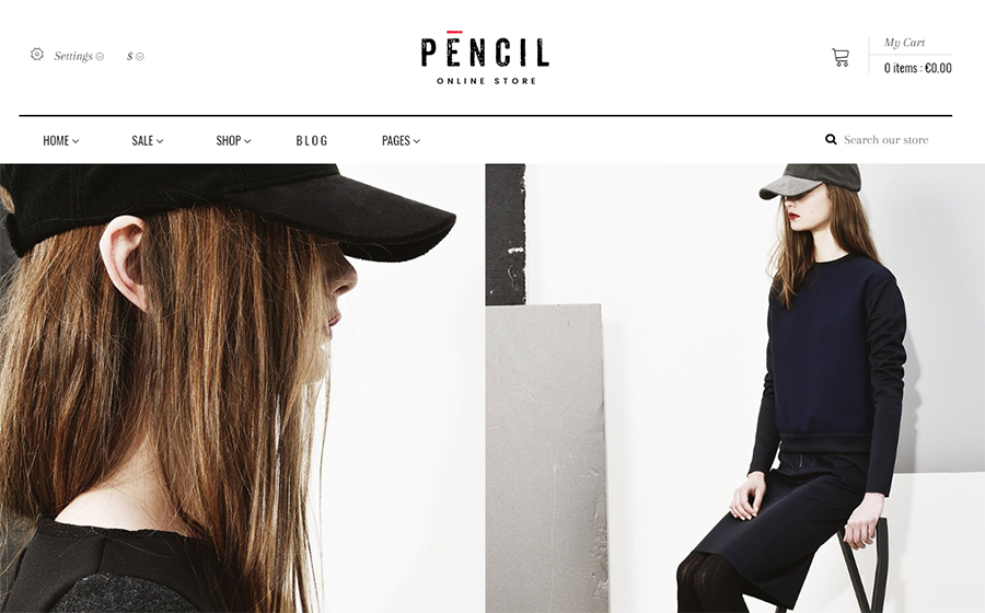 Pencil - Fashion Shop Shopify Theme