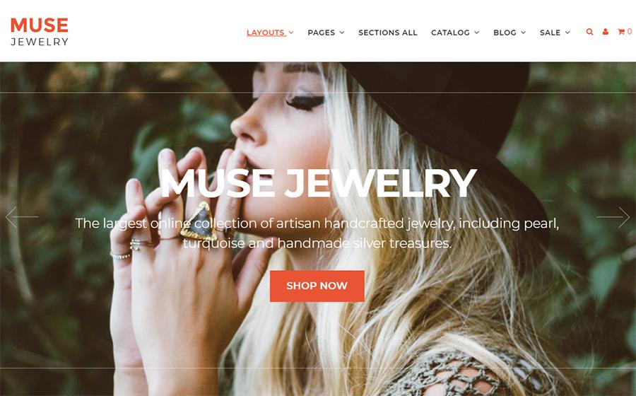 Muse Jewellery Fashion Responsive Shopify Theme