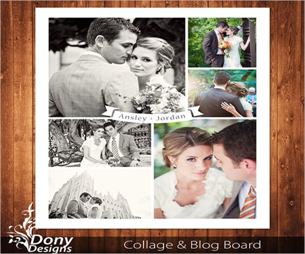 Anniversary Photo Collage Flyer Template