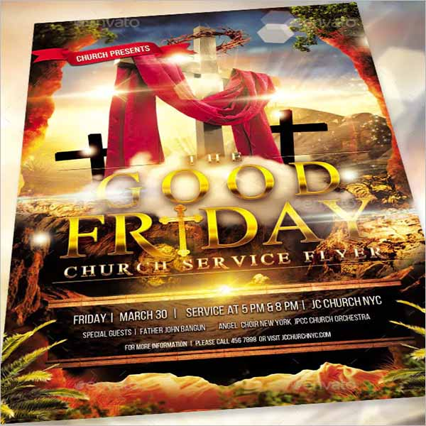 Awesome Good Friday Flyer Design