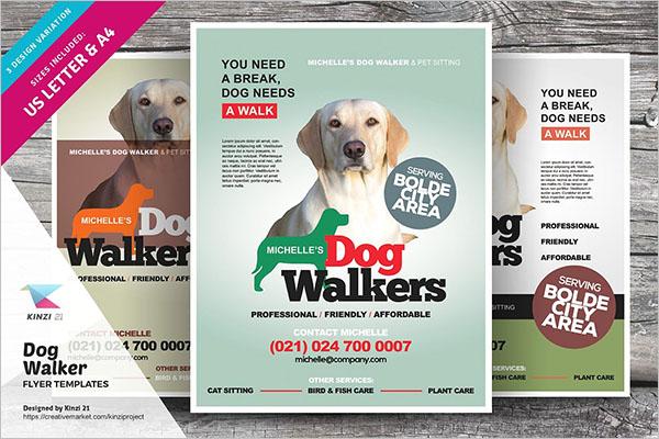Best Dog Service Flyer Template
