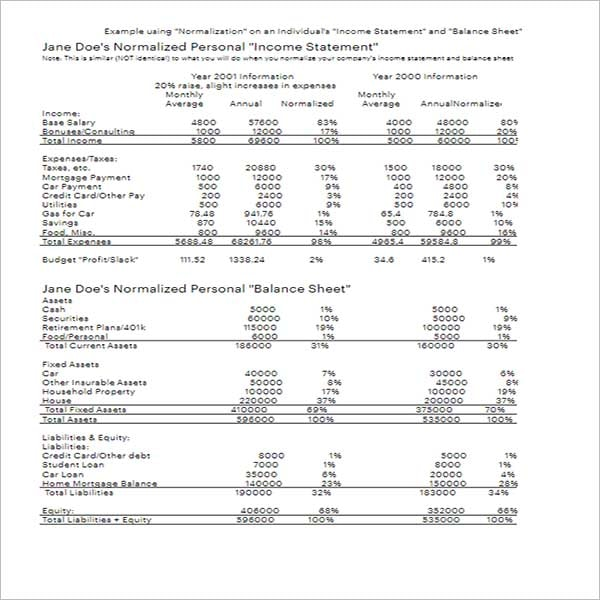Best Income Statement Template