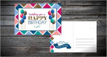 Birthday Postcard Designs