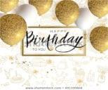 Birthday Postcard Layout Design