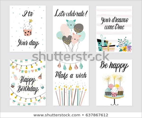 Birthday Postcard Modern Design