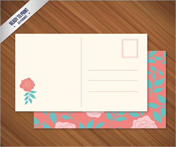 Blank Postcard Template Free Download