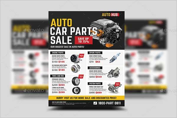 Car Parts Store Sale Flyer