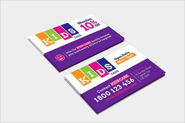 Children Day Care Business Card Design