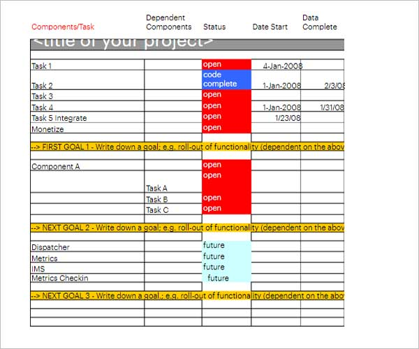 Company Project Schedule Template
