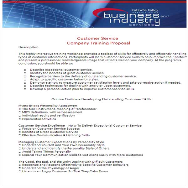 Company Training Proposal Template