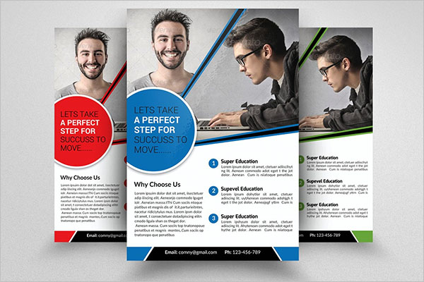 Computer Training Graphic Flyer Design