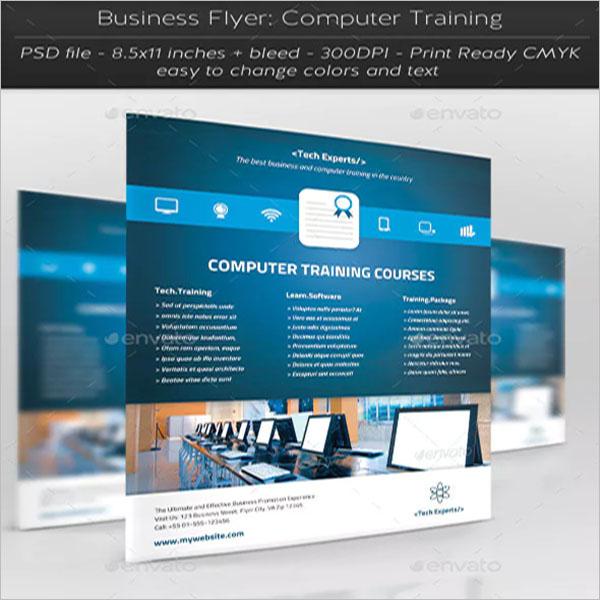 Computer Training Modern Flyer Template