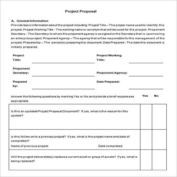 Custom Project Proposal Template