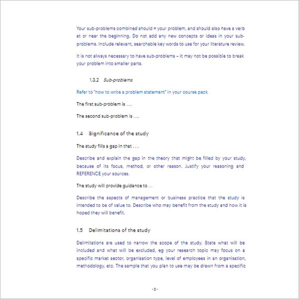 Custom Research Proposal Template
